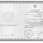 Удостоверение институт им. Шолохова